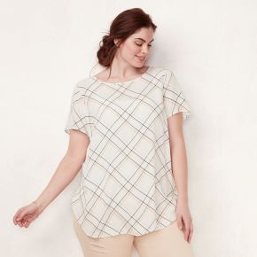Plus Size LC Lauren Conrad Graphic Top