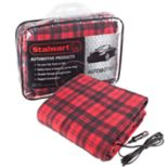 Stalwart 12-Volt Plaid Vehicle Electric Blanket