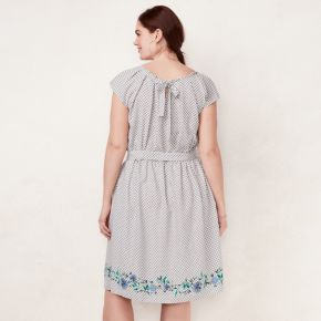 Plus Size LC Lauren Conrad Floral Pleated Dress