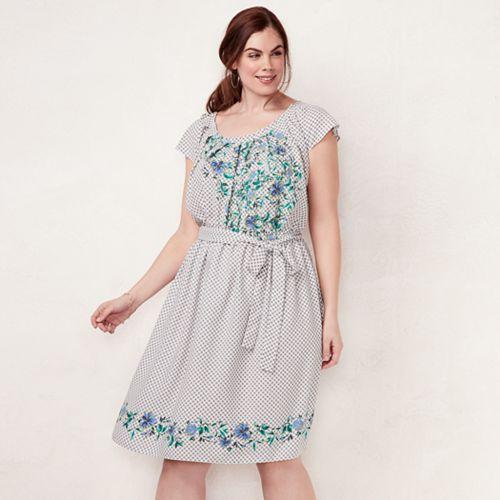 Plus Size Lc Lauren Conrad Bell Sleeve Dress Null