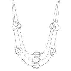 Oval Link Triple Strand Necklace