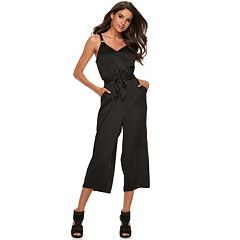 Women's Jennifer Lopez Crop Satin Jumpsuit