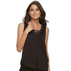 Women's Jennifer Lopez Strappy V-Neck Tank
