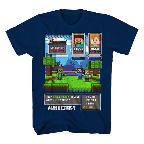 Boys 8-20 MInecraft Battle Tee