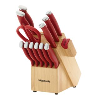 Farberware Self-Sharpening 15-pc. Knife Block Set with EdgeKeeper Technology