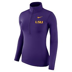 Women's Nike LSU Tigers 1/2-Zip Dri-FIT Pullover Top