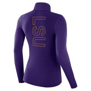 Women's Nike LSU Tigers 1/2-Zip Dri-FIT Pullover Top