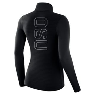 Women's Nike Oklahoma State Cowboys 1/2-Zip Dri-FIT Pullover Top