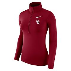 Women's Nike Oklahoma Sooners 1/2-Zip Dri-FIT Pullover Top
