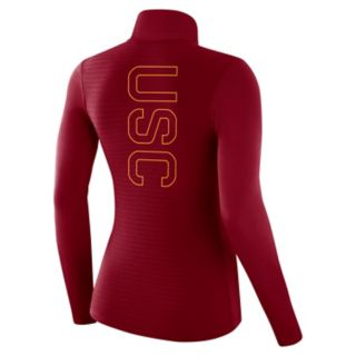 Women's Nike USC Trojans 1/2-Zip Dri-FIT Pullover Top