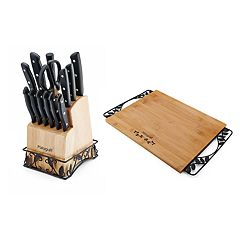 Pfaltzgraff 14-Piece Cutlery Set with Bonus Cutting Board