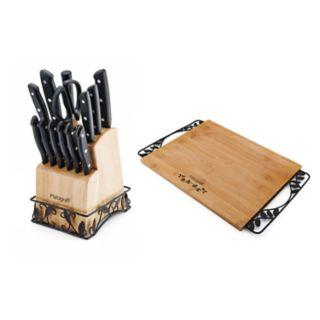 Pfaltzgraff 14-Piece Cutlery Set with Bonus Cutting Board