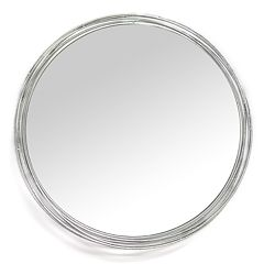 Stratton Home Decor Round Wall Mirror