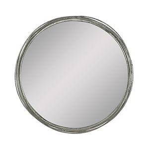 Stratton Home Decor 28 Aubrey Gold Metal Wall Mirror