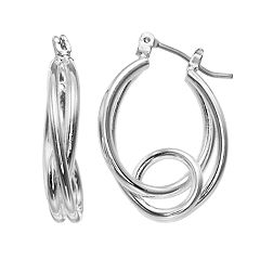 Napier Oval Loop Hoop Earrings