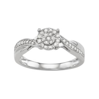 Sterling Silver 1/5 Carat T.W. Diamond Engagement Ring