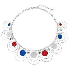 Glitter Hoop Drop Necklace