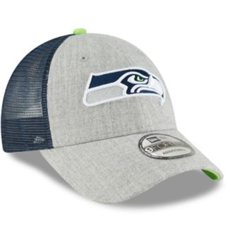Adult New Era Seattle Seahawks 9FORTY Heathered Adjustable Cap