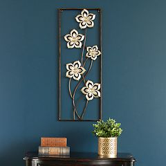 Stratton Home Decor Floral Panel Wall Decor