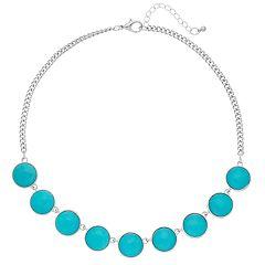 Aqua Cabochon Necklace