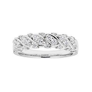 Lovemark 10k White Gold 3/8 Carat T.W. Diamond Ring