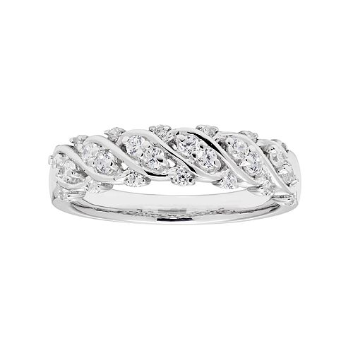 Lovemark 10k White Gold 3/8 Carat T.W. Diamond Ring