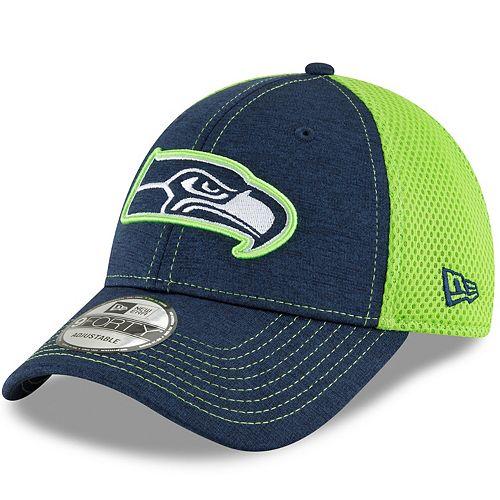 00c7db3fc21 Adult New Era Seattle Seahawks 9FORTY Surge Stitcher Adjustable Cap