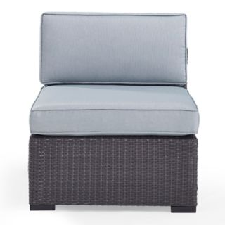 Crosley Furniture Biscayne Patio Wicker Armless Chair