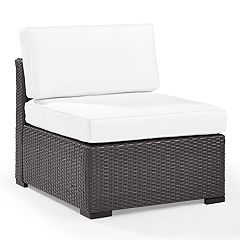 Crosley Furniture Biscayne Patio Wicker Armless Chair