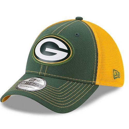 Adult New Era Green Bay Packers 39THIRTY Fan Mesh Flex-Fit Cap