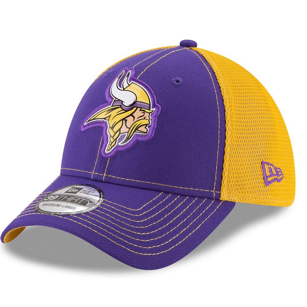 Adult New Era Minnesota Vikings 39THIRTY Fan Mesh Flex-Fit Cap