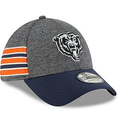 Adult New Era Chicago Bears Sideline Home Graphite 39THIRTY Flex-Fit Cap