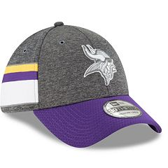 Adult New Era Minnesota Vikings Sideline Home Graphite 39THIRTY Flex-Fit Cap