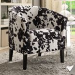 Linon Sadie Faux Cow Print Club Chair