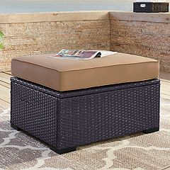 Crosley Furniture Biscayne Patio Wicker Ottoman