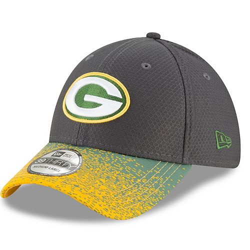 Adult New Era Green Bay Packers Visor Blur 39THIRTY Flex-Fit Cap