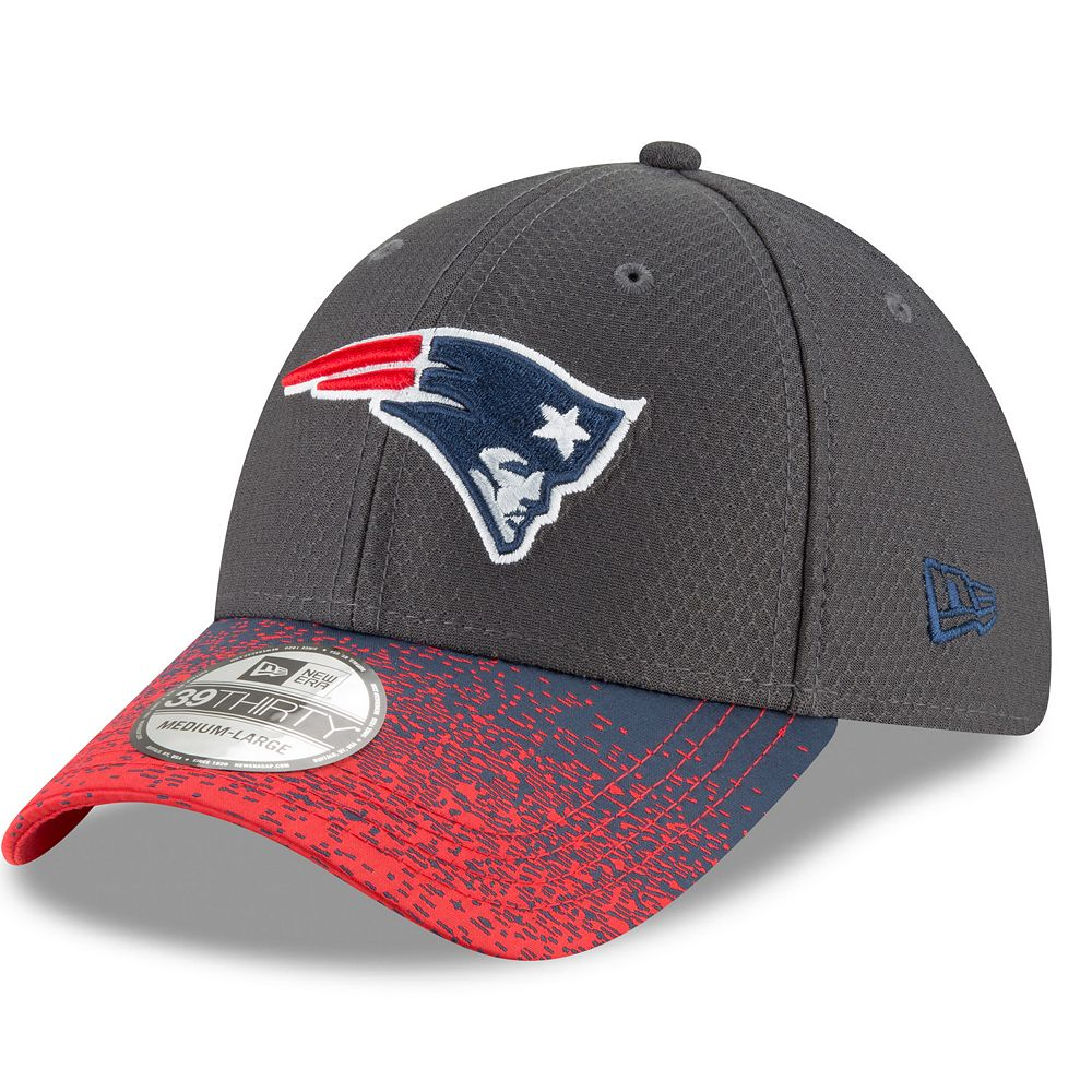 Adult New Era New EnglandPatriots Visor Blur 39THIRTY Flex-Fit Cap