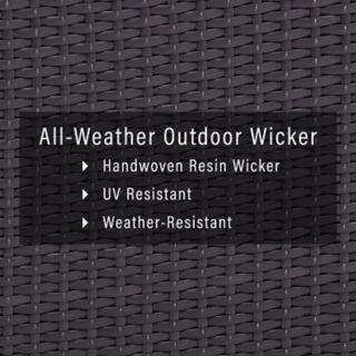 Crosley Furniture Biscayne Patio Wicker One Arm Loveseat