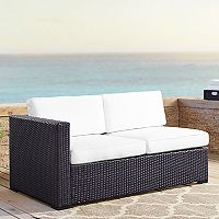 Crosley Furniture Biscayne Patio Wicker One Arm Loveseat