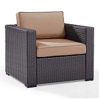Crosley Furniture Biscayne Patio Wicker Arm Chair
