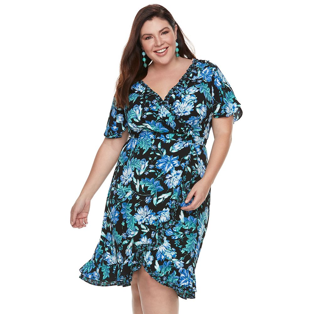 Plus Size Chaya Floral Wrap Dress