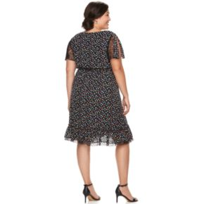 Plus Size Chaya Wrap Ruffle Hem Dress