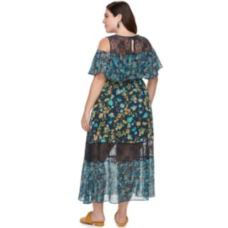 Plus Size Chaya Floral Lace Maxi