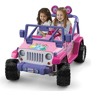 Disney Princess Jeep Wrangler Ride-On Vehicle by Fisher-Price Power Wheels