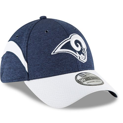 Adult New Era Los Angeles Rams Sideline Home Official 39THIRTY Flex-Fit Cap 9d143724d
