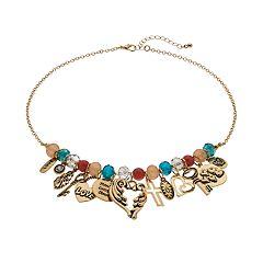 Believe In Cross, Angel Wings & Heart Charm Necklace