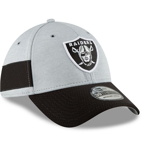 Adult New Era Oakland Raiders Sideline Home Official 39THIRTY Flex-Fit Cap 7874c8342