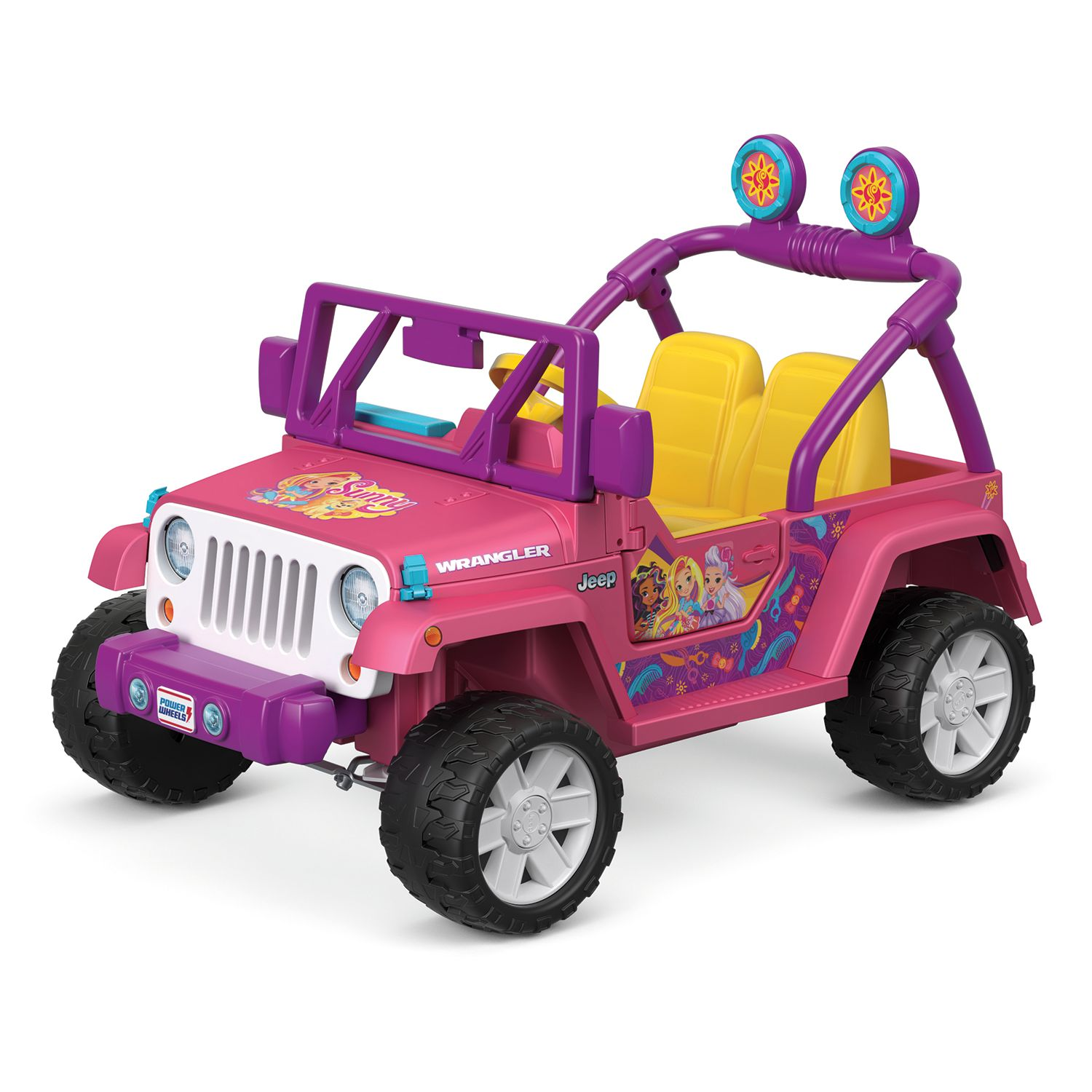 sunny day jeep wrangler ride on vehicle by fisher price power wheelsDetails About Power Wheels Barbie Lil Wrangler 4x4 Jeep New In Box #13