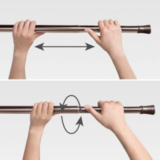 SONOMA Goods for Life? Basic End Cap Steel Tension Shower Rod