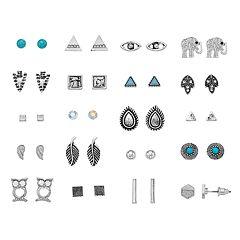 Mudd® Elephant & Owl Nickel Free Stud Earring Set